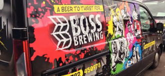 New branding for Boss Brewing.